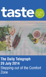 Bau Truong in The Daily Telegraph Taste section, Cover Story - Stepping out of the comfort zone