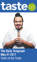 Bau Truong in The Daily Telegraph Taste section, Cover Story - Tools of the Trade