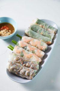 Bau Truong Vietnamese restaurants - rice paper rolls