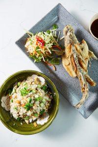 Bau Truong Vietnamese restaurants - salad and deep-fried fish