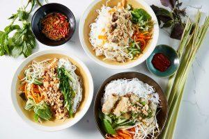 Bau Truong Vietnamese vermicelli salad bowls